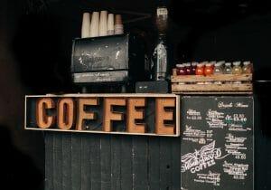 un bar de coffee