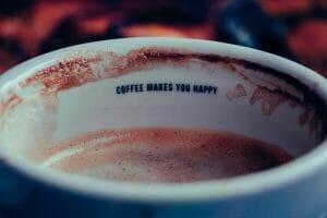 taza de café empezada